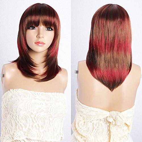 gbdsd Damen Haar Perücke New Fashion glattes Haar Hitzebeständige Perücke für Cosplay Party Kostüm (Zurück In Die Vergangenheit Kostüme)