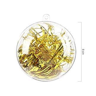 himaly 20 pcs Bolas de Navidad Transparentes de Plástico Acrílico Rellenable Baño Caja de jabón Plástico Bola Navidad Transparente para Llenado de Decoraciones de Árboles de Navidad Bodas y Bautismo