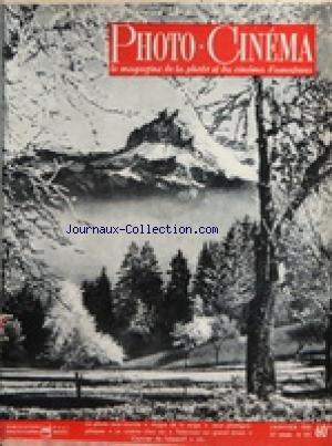 PHOTO CINEMA [No 591] du 01/01/1951 - LA PHOTO SOUS-MARINE - MAGIE DE LA NEIGE - JEUX PHOTOGRAPHIQUES - LE CINEMA CHEZ SOI - TELE SUR GRAND ECRAN