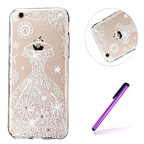 iPhone 7 Coque Silicone,iPhone 7 Coque Transparente,iPhone 7 Coque Crystal Bling Bling,iPhone 7 Coque Ultra-Mince Etui Housse avec Bling Diamant,iPhone 7 Silicone Case Slim Soft Gel Cover,EMAXELERS iP TPU 55