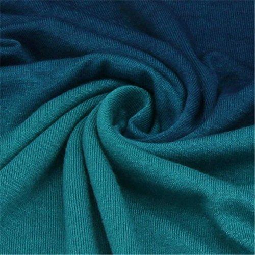 LHWY Donne Felpe Con Cappuccio Felpe Casual Manica Lunga Con Cappuccio Colore Sfumato Camicia Camicetta Blu