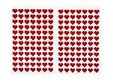 Piccoli cuori rossi in feltro autoadesivi, 168 pezzi, 0,9 cm, decorazioni adesive resistenti per segnaposto fai da te, matrimoni, compleanni e Natale