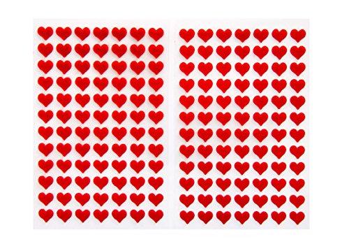 Logbuch-Verlag 168 kleine rote Herzen aus Filz Mini-Herzen Herz-Aufkleber Sticker selbstklebend basteln verzieren Tisch-Deko Hochzeitsdeko Geburtstag -