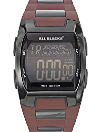 All Blacks - 680213 - Montre Homme - Quartz Digital - Cadran Noir - Bracelet Autre Bicolore