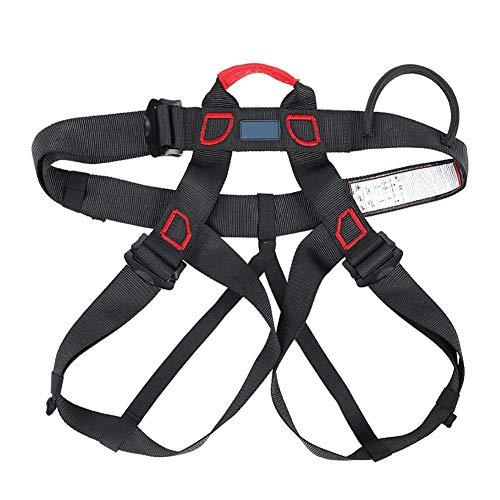 Kit di imbracature di sicurezza, imbracatura anticaduta di sicurezza, cintura di sicurezza a metà corpo per arrampicata su roccia alpinismo in corda doppia(Black)