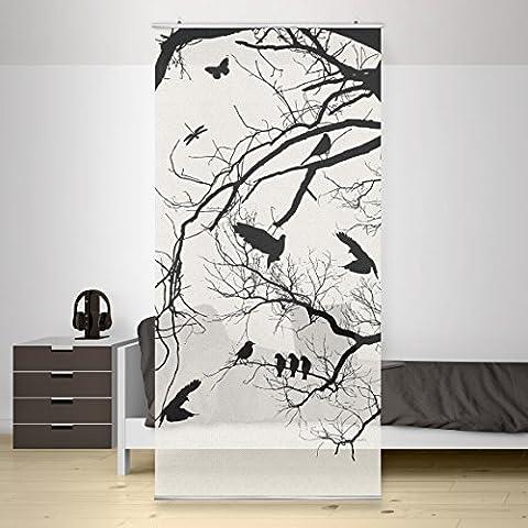 Panel japones Vintage Tree in the Sky, Tamaño: 250 x 120cm, panel japonés, paneles japoneses, separadores de ambientes, cortina, paneles japoneses cortina,