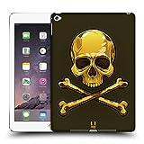 Head Case Designs Gold Totenkopf Mit Gekreuzten Knochen Ruckseite Hülle für iPad Air 2 (2014)