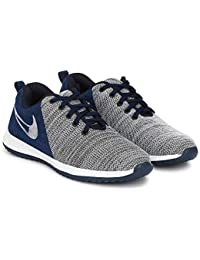 Fucasso Men's Fine Quality and Comfortable Grey Blue Sports Shoes