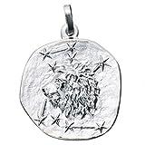 JOBO Anhänger Sternzeichen Löwe 925 Sterling Silber rhodiniert teilmattiert