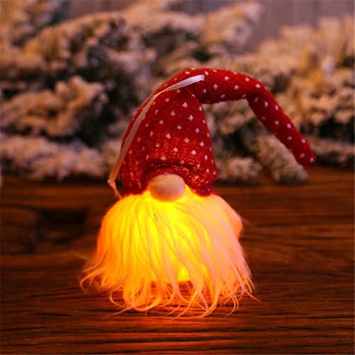 Weihnachtsmann Lichterkette Kreatives Leuchten Weihnachtsbaum Anhänger Deko Hängende Lichter Zuhause Licht String Nachtlicht Festival Karneval Plüschtier Luminous Zwerg Geschenk