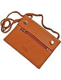 Branco kleiner Leder Brustbeutel Brusttasche Security Wallet super Flach GoBago