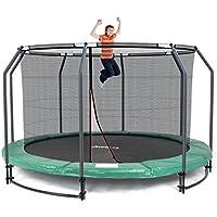 Ampel 24 Deluxe Ground Trampolin 366 cm Komplett mit innenliegendem Netz | Sicherheitsnetz mit Stabilitätsring & 8 Stangen | Outdoor Gartentrampolin mit Mehr Sicherheit | Belastbarkeit 35 kg