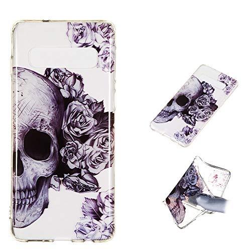 CoverKingz Schutzhülle Handyhülle für Samsung Galaxy S10 Hülle Silikon Case, Motiv Cover Totenkopf
