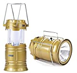 SaleOn Lantern LED Solar Emergency Light Bulb With Mobile Charging Facility-022(Gold)
