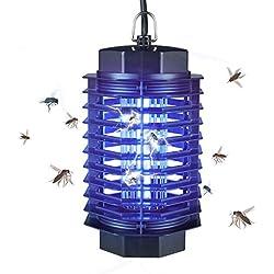 Gardigo - Lampara Mata-Insectos Electrico Mata Moscas; con Luz Ultravioleta Anti-Polillas, Zancudos, Moscas, y mas Insectos. Atrapa Anti-Mosquitos - 4 Watt; Probado SGS GS