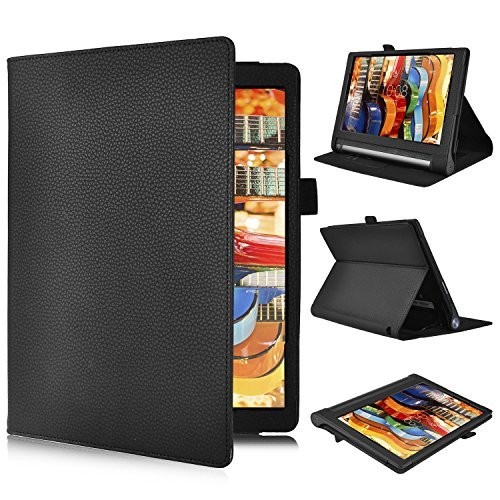 tablet lenovo tab 3 Lenovo Yoga Tab 3 PRO 10.1-inch Cover Custodia - IVSO Slim-Book Case Custodia per Lenovo Yoga Tab 3 PRO 10.1-inch Tablet (Nero)