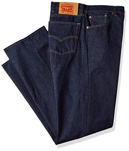Levis Shrink To Fit-jeans (Levi's Men's Big & Tall 501 Original Shrink-to-Fit Jean, Rigid STF/Natural Fill, 48W x 38L)