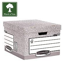 Bankers Box System Scatola Archivio Grande, Grigio, Confezione da 10 Pezzi