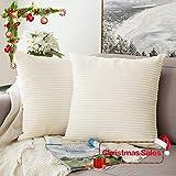 MIULEE Paquete de 2, Pana Suave Decorativa Cuadrado Juego Fundas de Almohada de Lanzamiento Cojín Caso para Sofá Dormitorio Auto 20 * 20 Pulgadas 50 x 50 cm