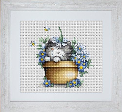 luca-s-1-piece-motif-chaton-kit-de-broderie-au-point-de-croix-compte-motif-fleur