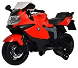 #3: Kidbee Officially Licensed BMW Bike-12V Battery Operated Ride On for Kids - Red