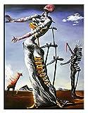 JVmoebel Salvador Dali Brennende Giraffe Gemälde Leinwand Ölbild Bild Bilder - G17183