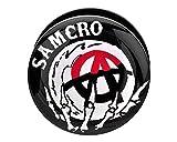 Sons of Anarchy SAMCRO tapones de tornillo de acrílico Fit 2G-1'