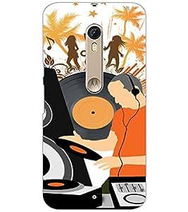 PrintDhaba Music D-4117 Back Case Cover for MOTOROLA MOTO X STYLE (Multi-Coloured)
