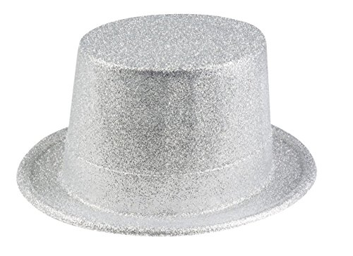 Boland 04251 Hut Glitter, unisex-adult, Silber, One Size
