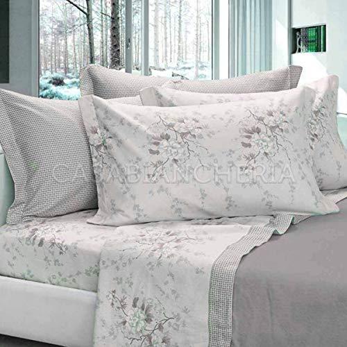 Cogal completo lenzuola di flanella matrimoniale chamonix japan-grigio-matrimoniale