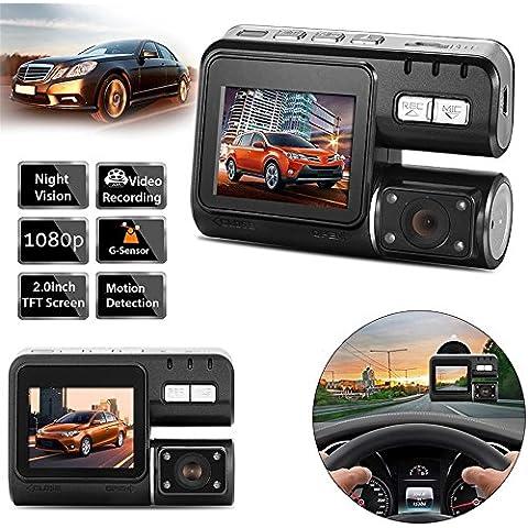 mingchang Car DVR Camera, 2HD Camera Recorder Dash Cam con