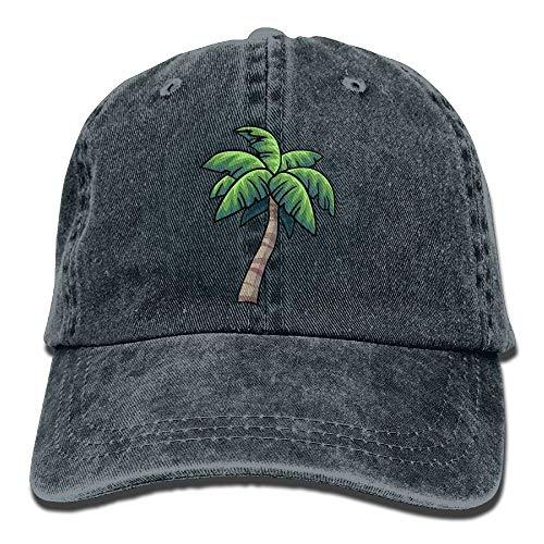 AOHOT Herren Damen Baseball Caps,Hüte, Mützen, Classic Baseball Cap, Unisex Baseball Cap Denim Hat Tropical Palm Tree Adjustable Snapback Glacier Cap Palm T 5 Fall