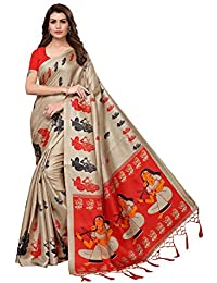 ANNI DESIGNER Khadi Silk With Blouse Piece Saree