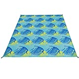 Best Beach Blanket Sand Frees - SONGMICS Sand Proof Beach Mat Blanket Water-repellent Quick-dry Review