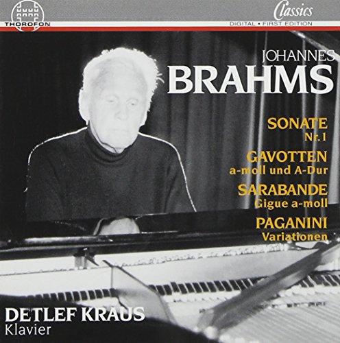 Johannes Brahms: Sonate Nr. 1 C-Dur (op. 1) / Variationen über ein Thema von Paganini (op. 35) / 2 Gavotten / Sarbande / Gigue (Kraus Jason)