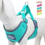ThinkPet Reflective Breathable Soft Air Mesh Puppy Dog Vest Harness Neon Green M(Neck 36-45cm/Chest 38-51cm)