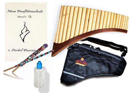 Plaschke Instruments Panflötenset mit S22-Rohr in G-Dur Panflöte, Notenbuch mit CD, Pflegeset und Tasche!