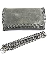 Francinel [N2490] - Sac cuir 'Scarlett' gris glacé (21. 5x13x6 cm)