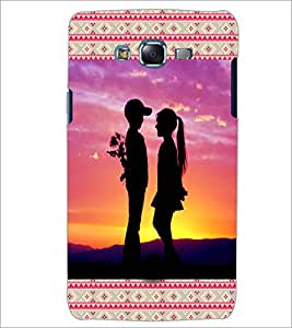 PrintDhaba Couple D-3613 Back Case Cover for SAMSUNG GALAXY ON 7 (Multi-Coloured)
