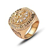 WEI Champion Ring Fan High-End-Kollektion Ring Fans Geschenk Dekoration Ring,Gold,Nummer12