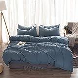 LLQDFH Einfarbige, Einfach Gewaschene, Vierteilige Bettwäsche Aus Baumwolle