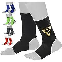 EMRAH - Protector de Tobillo para Tobillera o Calcetines de Kickboxing Thai, Color Negro, tamaño Large