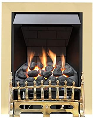 Broadly Slimline Radiant Gas Fire - Brass