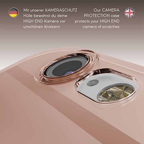 Urcover® Apple iPhone 6 / 6S [ KAMERASCHUTZ ] Handy Schutz-Hülle | TPU / Silikon Handyhülle Hell Blau Transparent | Flexibel Ultra Slim Dünn | Smartphone Zubehör Back-Case | Soft Crystal Cover Schale Pink Transparent