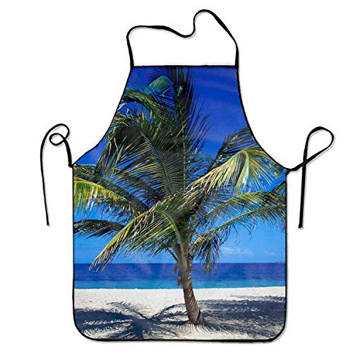 SKDJFBUD Kitchen Island Beach Print Aprons Comfortable Perfect for Cooking Guide