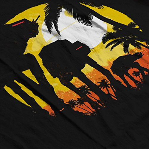 Tropical ATAT Attack Star Wars Rogue One Men's Vest Black
