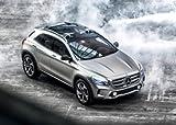 Classic y los músculos de los coches y arte del coche Mercedes-Benz GLA Concept Car Póster en 10 mil Archival papel satinado de vista lateral superior delantera, papel, Silver Front Top Side View, 36' x 24'