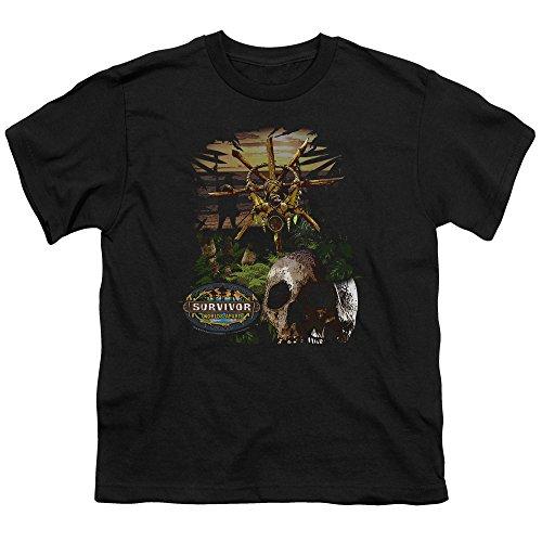 Survivor - Jugend-Dschungel-T-Shirt, X-Large, Black (Jugend-dschungel)