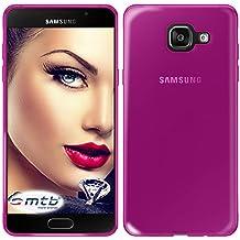 mtb more energy® Funda Clear & Slim para Samsung Galaxy A5 2016 (SM-A510, 5.2'')   transp.-rojo   flexible   delgada   Gel TPU Silicona Carcasa Suave Cascara