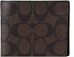 "Coach Men""s Signature PVC Wallet - Black"
